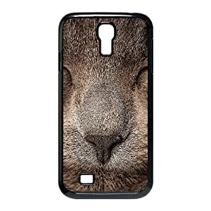 Samsung Galaxy S4 9500 Cell Phone Case Black ae78 sleeping cat zoom nature Keicm