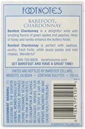 Barefoot Cellars California Chardonnay Wine 750mL