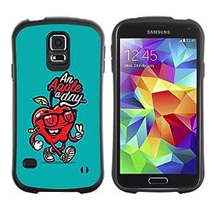 """Hypernova Slim Fit Dual Barniz Protector Caso Case Funda Para Samsung Galaxy S5 [Día doctor Away trullo Cita Roja""""]"""