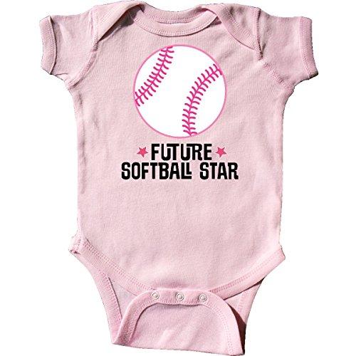 Onesie Softball (inktastic - Future Softball Star Sports Infant Creeper 6 Months Pink 2ebf0)