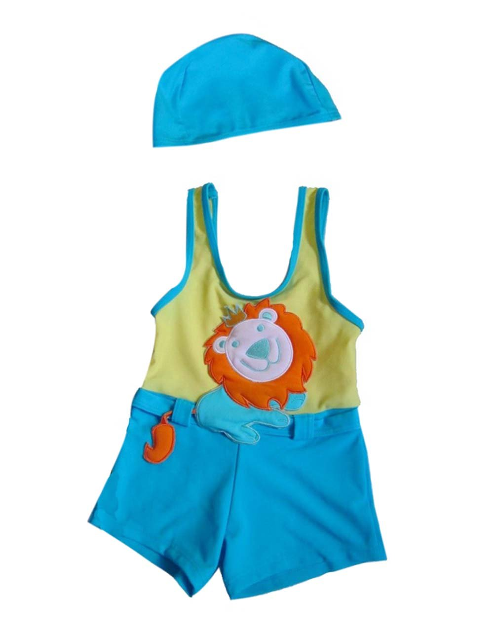 Panda Superstore Cute Lion Boys Body Suits 2 Pcs Swimsuits, 3T, 1-2 Years Old Boy