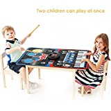 Toys : INTEY Musical Mat 2 in 1 Piano Drums Music Jam Playmat with Built-in Speaker Foldable Piano Music Mat
