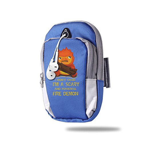 AWADER Portable Arm Bag Studio Ghibli Howl's Moving Castle Calcifer RoyalBlue