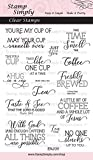 Stamp Simply Clear Stamps Coffee Cup or Tea Mug Set Christian Religious 16 Pieces