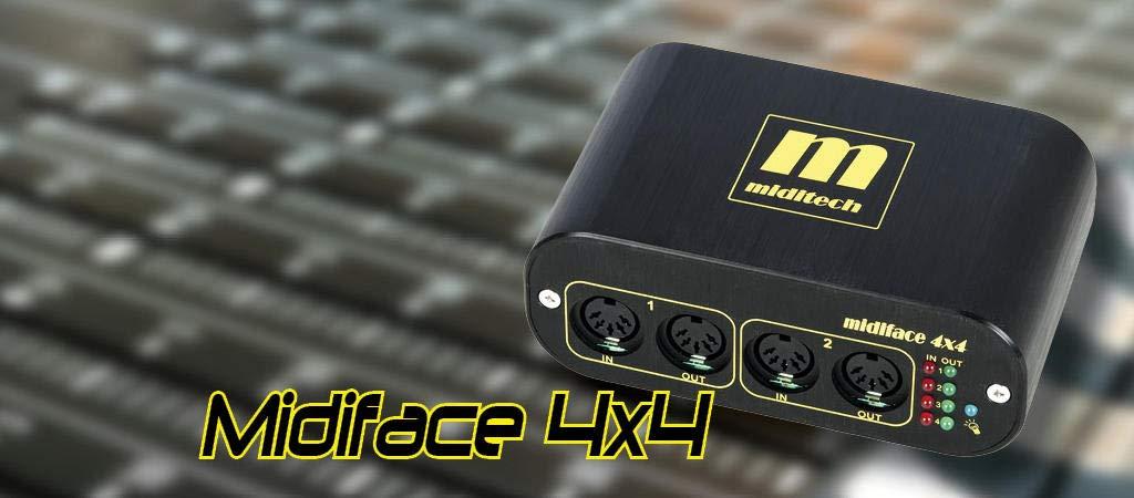 MIDITECH MIDIFACE 4X4 by MidiTech