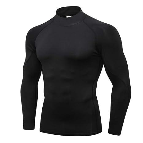 NUASH Diseño Nueva Camiseta Compresión Body Body Jogging Jersey Camisa Deportiva Hombres Ropa al Aire Libre Camisa de Correr XXL Negro Línea Negra: Amazon.es: Deportes y aire libre