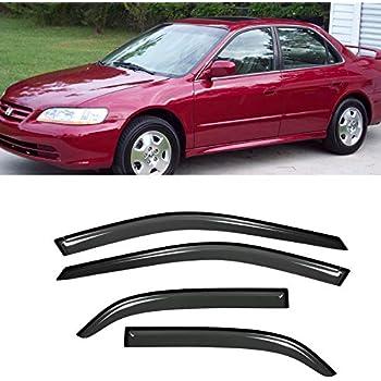 4 Pcs Set Compatible With 1995-2000 Chevrolet Lumina Tuningpros LWD2-074 Outside Mount Window Visor Deflector Rain Guard Light Grey