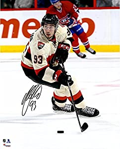 "Mika Zibanejad Ottawa Senators Autographed Skating With Puck 16"" x 20"" Photograph - Fanatics Authentic Certified"