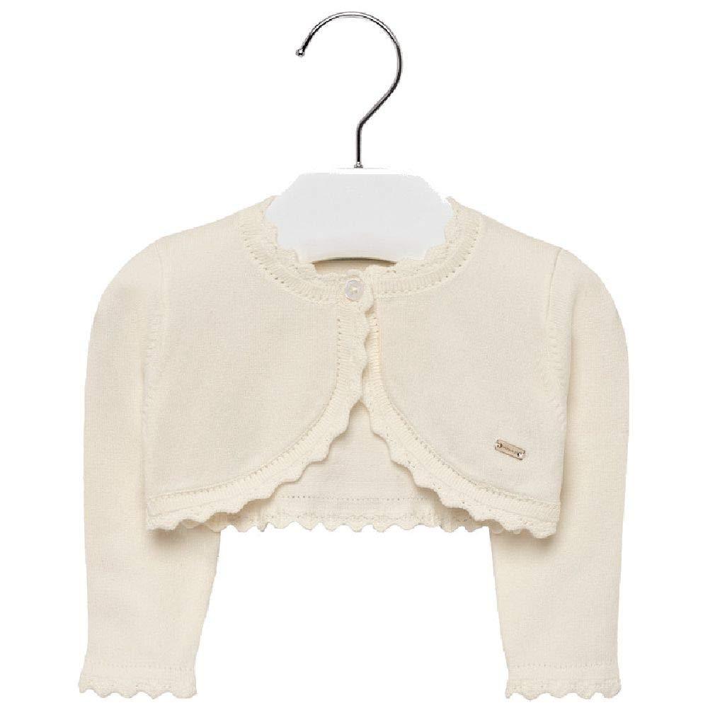 Baby Mädchen Strickjacke Bolero Jacke Langarm Pullover Jäckchen Weiß 6-24 Monate