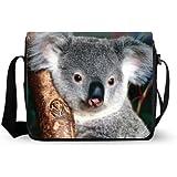 Oxford Crossbody Cute Koala Bear Messenger Bag Laptop Case Backpack
