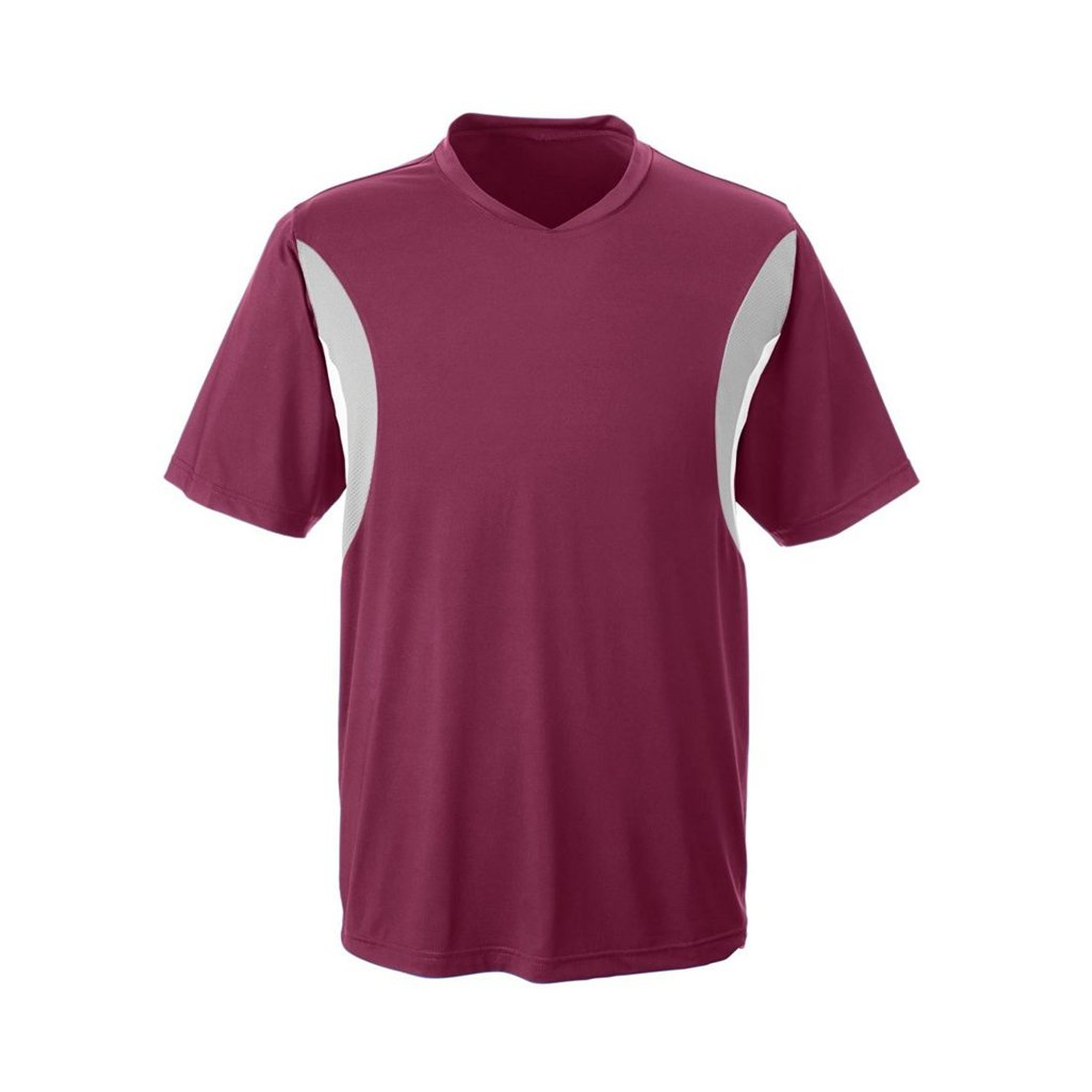 Ash City Apparel Team 365 Mens Short-Sleeve Athletic V-Neck All Sport Jersey (X-Small, Sport Maroon) by Ash City Apparel