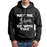 XiaoTing Mens May The Geek Be With You Fashion Hiking Black Fleece