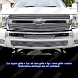 08 chevy silverado grill insert - Fits 2007-2013 Chevy Silverado 1500 Billet Grille Grill Insert Combo # C61133A