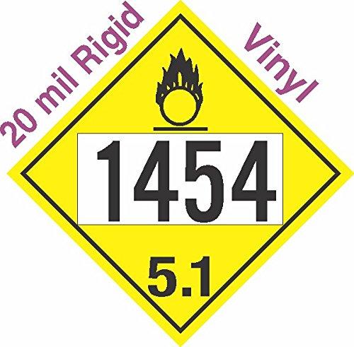 GC Labels-R306c1454, Oxidizer Class 5.1 UN1454 20mil Rigid Vinyl DOT Placard, each Placard
