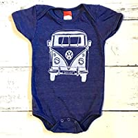 VW Bus baby onesie. VW Van baby one piece. VW baby body suit.