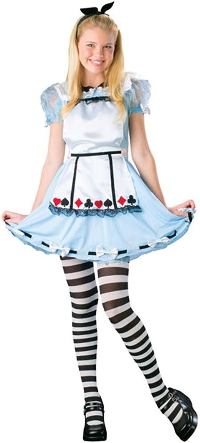 Amazon Com Teen Alice In Wonderland Girl S Halloween Costume Size Teen 0 9 Clothing