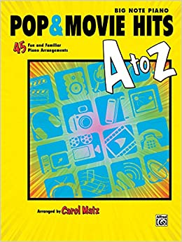pop movie hits a to z the biggest hits the greatest artists easy piano by coates dan 2012 sheet music