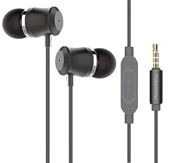 KUYIA Auriculares/Auriculares/Auriculares con Micrófono Estéreo y Mando a distancia para iPhone,