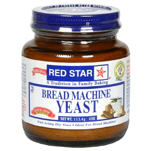 Red Star Bread Machine Yeast, 4-Ounce Jars (Pack of 3) by Red Star (Image #1)