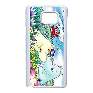 Back Skin Case Shell Samsung Galaxy Note 5 Cell Phone Case White Moomin Valley Weplf Pattern Hard Case Cover