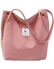 Yidarton Ladies Canvas Bag Shoulder Bag Shopper Tote Bag Casual Handbag Large Chic Bags(pk)