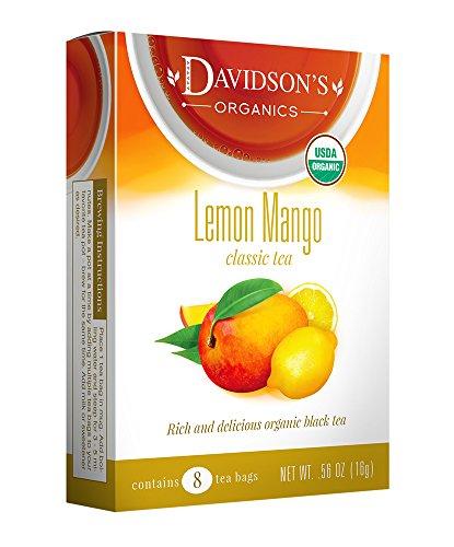 Davidson's Tea Lemon Mango, 8-Count Tea Bags (Pack of 12)