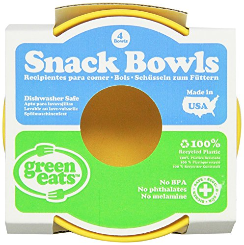 Green Eats 4 Pack Snack Bowl, Yellow
