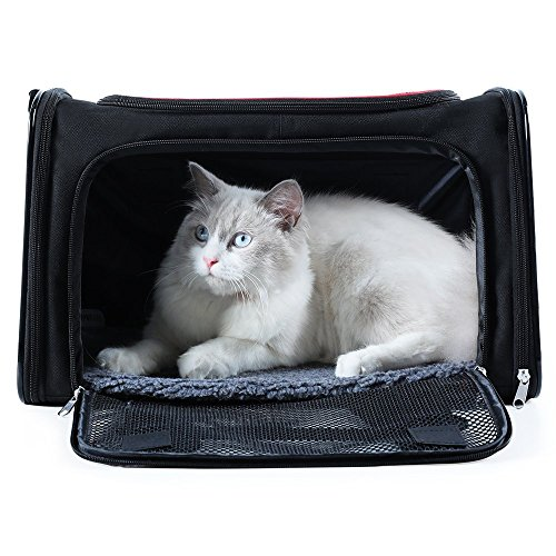 A4Pet Top Loading Collapsible Soft Pet Carrier for Cats