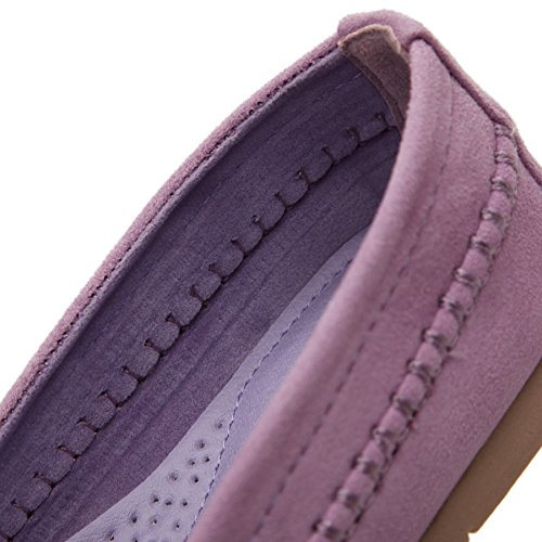 Meeshine Womens Flats Komfort Slip On Casual Fahren Faulenzer Lila