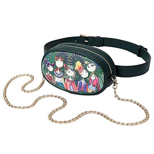 Filles Loisirs à Bourse Sac Trydoit Impression Bag Oval BandoulièRe Cross Femmes Motif Body ForêT qtHTn1