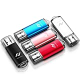 tablets with word programs - 5 X 16GB USB2.0 Flash Drive Bulk Thumb Drive Jump Drive Memory Drive Zip Drive with LED Light (5 Pack,Black,Red,Blue,Rose Gold,Silvery)