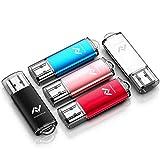 5 X 8GB USB2.0 Flash Drive Bulk Thumb Drive Jump Drive Memory Drive Zip Drive with LED Light (5Pack,Black,Red,Blue,Rose Gold,Silvery)