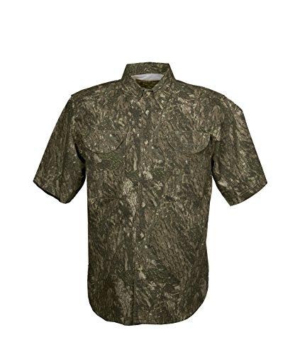 Tiger Hill Men's Camouflage Fishing Shirt Short Sleeves (Large)