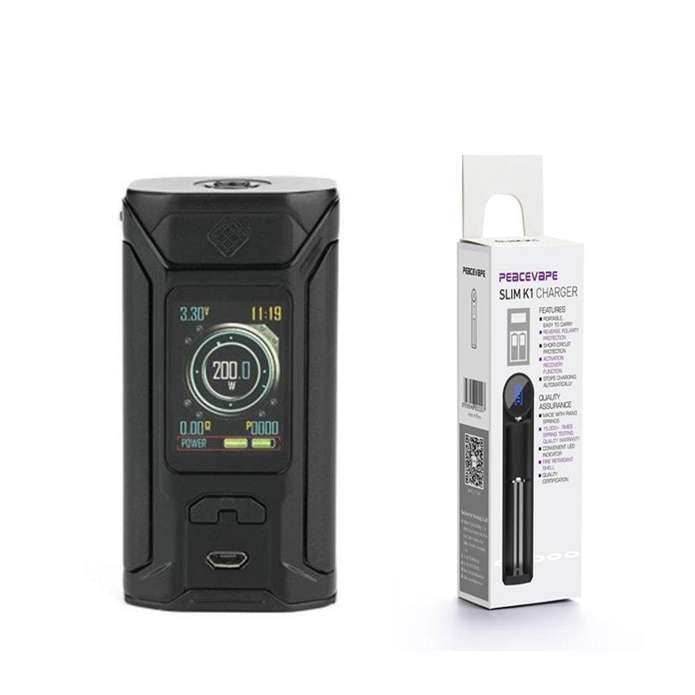 WISMEC SINUOUS RAVAGE 230W BOX MOD cigarrillo electrónico (Negro) con PEACEVAPETM Cargador de batería 18650 USB Sin Tabaco y Sin Nicotina: Amazon.es: Salud ...