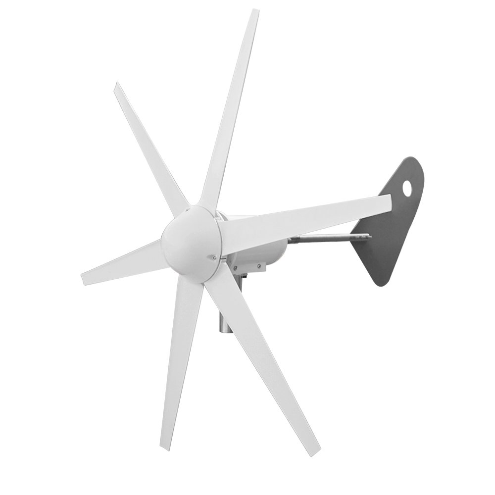ECO-WORTHY 300 Watt 6 Blades Wind Turbine Generator with for Charging 12 Volt Battery Power Charge Camp Home
