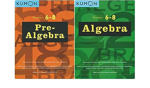 Kumon Math Workbooks Pre Algebra Algebra 2 Books