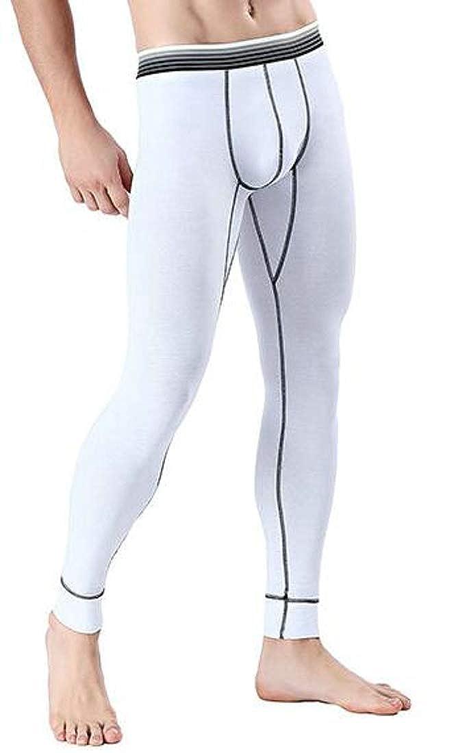 Wofupowga Men Base Layer Stretch Slim Underwear Bottom Legging Johns