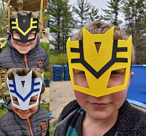 51C6Esm7a4L. AC  - RoterSee 50Pcs Superhero Masks Party Favors for