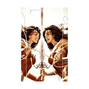 T-TGL(RQ) Iphone 5/5S 3D High-Quality Phone Case Wonder woman with Hard Shell Protection