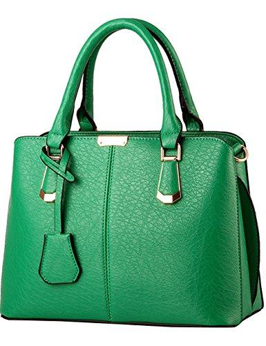 Menschwear Purse Pu Leather Azur Ladies À Grand Sac Womens Vert Bandoulière rq6ZAwxgrt