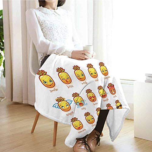 """All Season Blanket 70""""x50"""" Emoji,Funny Pineapples with for sale  Delivered anywhere in USA"""