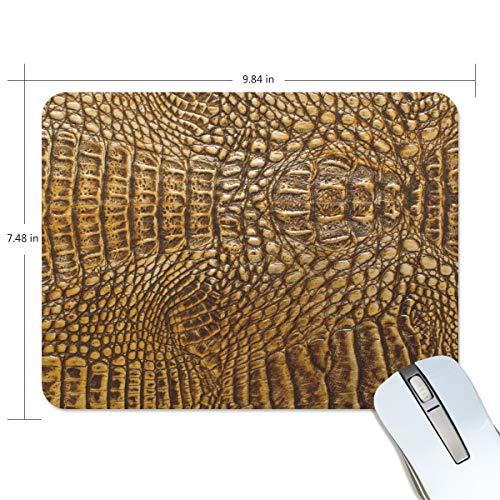 Mouse Pads,Gold Crocodile Bone Skin Texture Premium Textured Mouse Mat Pad, Non Slip Rubber Base Mousepad for -