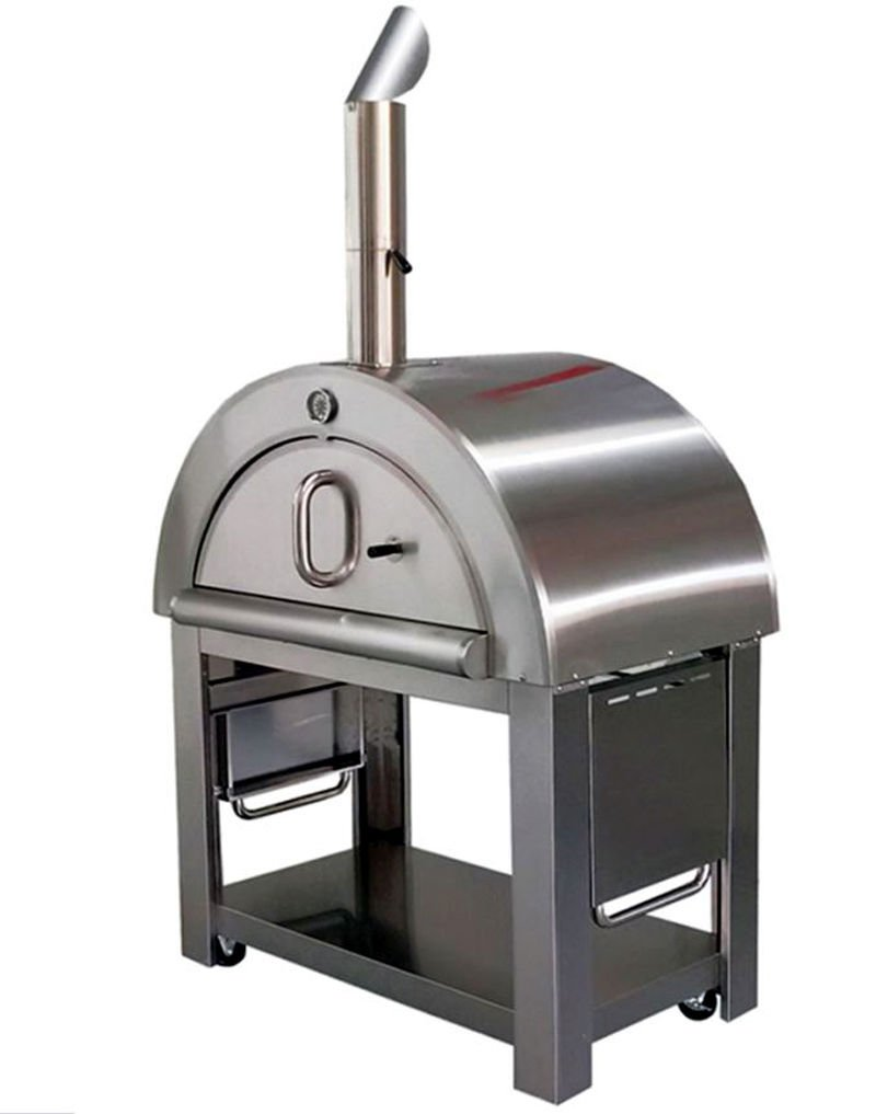 SDI Factory Direct XL Size Wood Fired Outdoor Stainless Steel Pizza Oven BBQ Grill