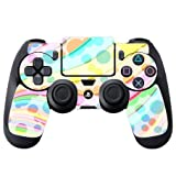 Colorful Design Bright Colors Lines Design PS4 DualShock4 Controller Vinyl Decal Sticker Skin by Moonlight Printing
