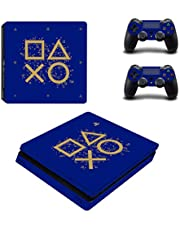 Adventure Games - PS4 SLIM - Days of Play - Playstation 4 Vinyl Console Skin Decal Sticker + 2 Controller Skins Set