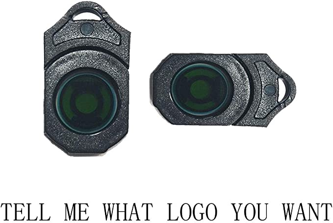 Image ofMIVISO 2 piezas para el automóvil Chips de la lente Proyector inalámbrico Paso de la puerta del automóvil Cortesía Luces de bienvenida Lámparas LED de sombra fantasma Presentación
