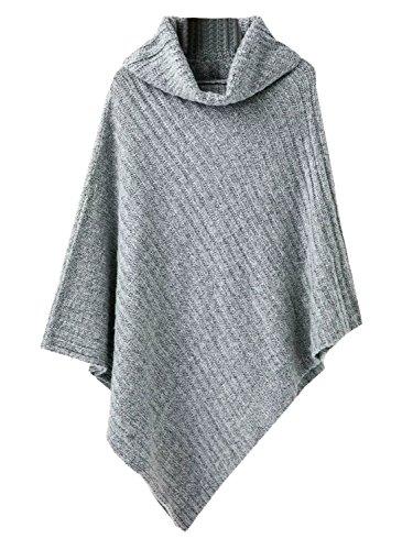 PERSUN Womens Fashion Poncho Sweater