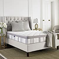 Safavieh Dream Collection Serenity White and Grey Spring Mattress, 11. 5-Inch (Queen)
