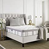 Safavieh Dream Collection Serenity White and Grey Spring Mattress, 11.5-Inch (Twin)