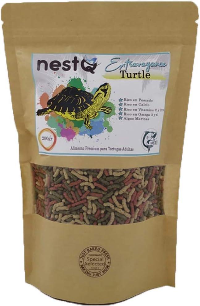 nestQ Pienso Tortugas Comida Tortugas Acuaticas Alimento Tortugas Anfibias Comida Tortuga Flotante Agua 200 Gramos